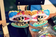 Catrinas earrings by Mario Morales Jr.