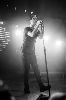 Michael Fitzpatrick performing with Fitz & the Tantrums at the Waller Creek Conservation event at Stubb's on Oct. 8.