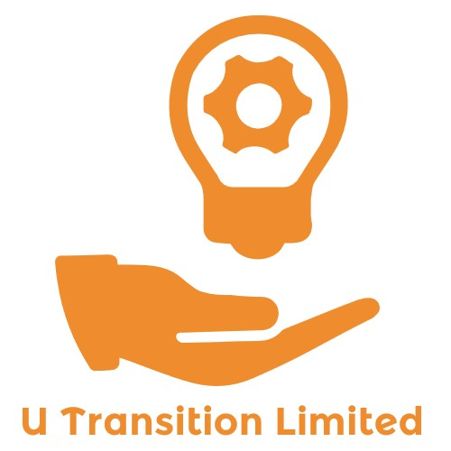 U Transition limited logo hand with lightbulb