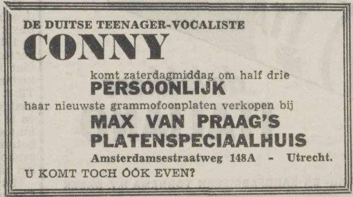 [gallery] Conny (Froboess) komt persoonlijk haar p…
