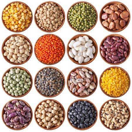 Biologische gedroogde peulvruchten, linzen en bonen