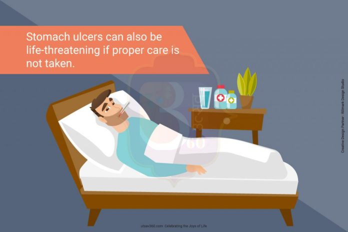 Stomach ulcers can also be life-threatening if proper care is not taken.