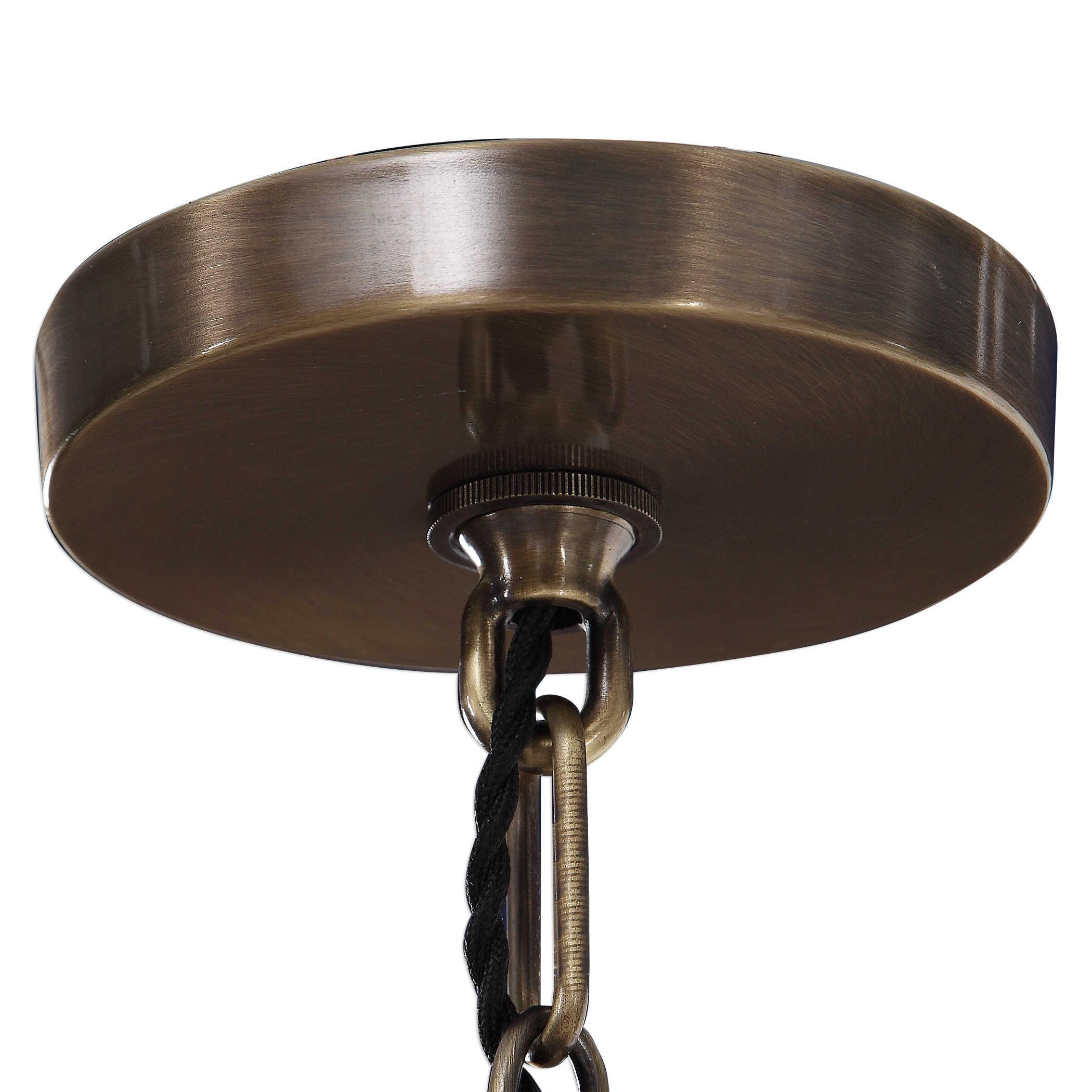 Uttermost Milo 6 Light Industrial Ring Chandelier