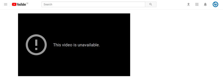 deleted YouTube video