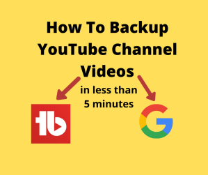 How to Backup YouTube Channel in less than 5 minutes