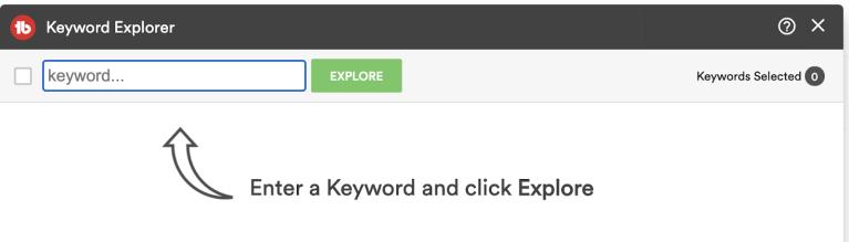 tubebuddy keyword explorer tab