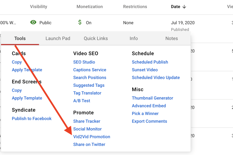 video promotion youtube with TubeBuddy
