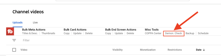 youtube demonetization quick audit