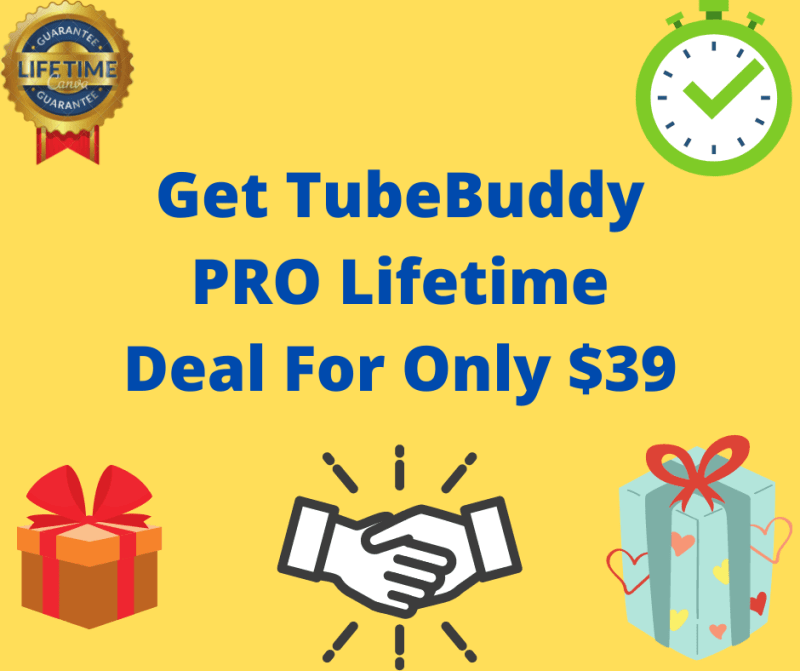 TubeBuddy PRO Lifetime Deal For Only $39