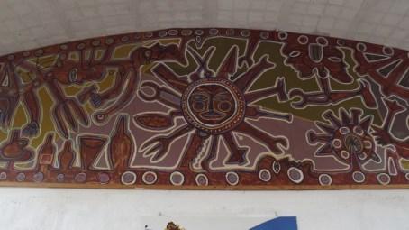 Mural creado para nuestra escuela por el artista Carlos Páez Vilaró