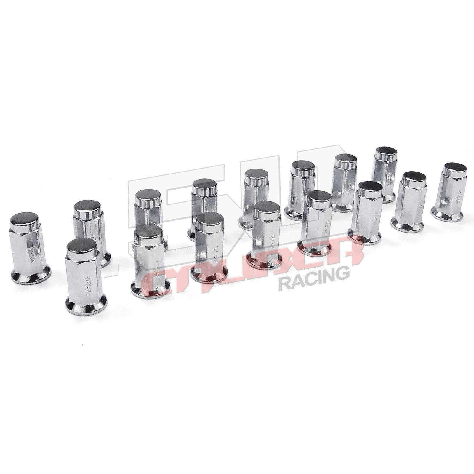 16 Chrome Flat Lug Nuts 12x1 25 Kawasaki Teryx Mule