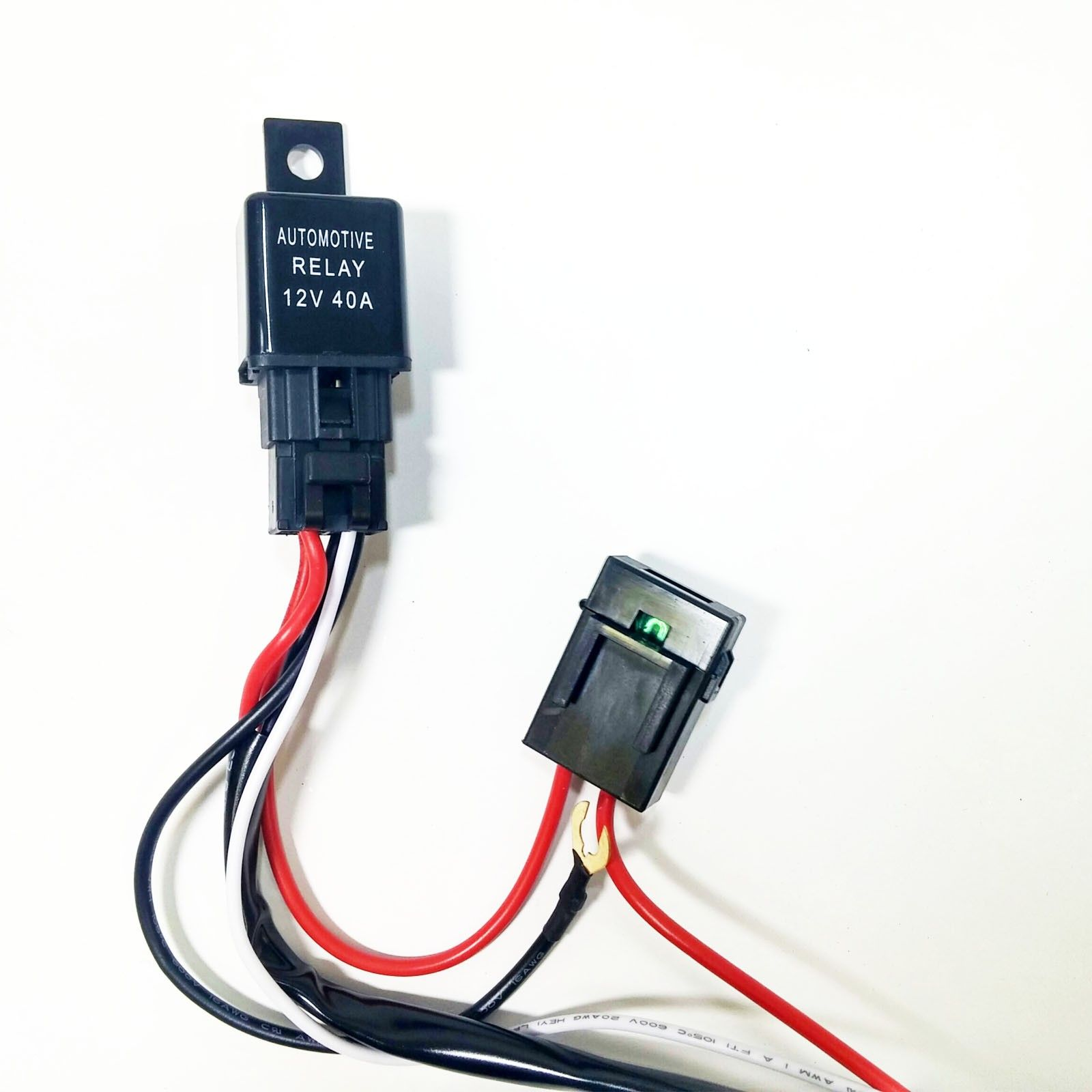 Universal Light Bar 12v Wire Harness Kit With 40 Amp Relay