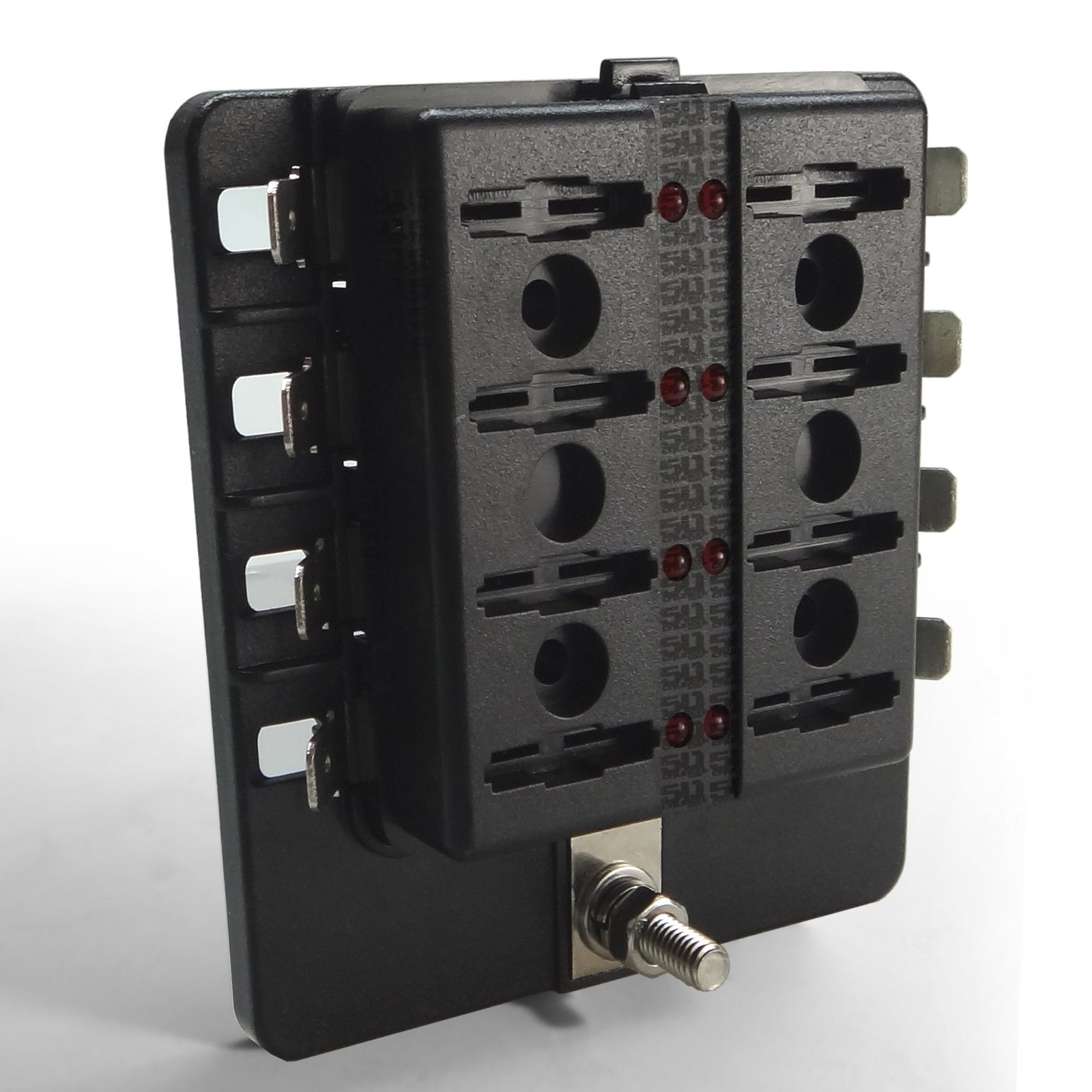 Universal 8 Way Covered 12v Circuit Blade Fuse Box With