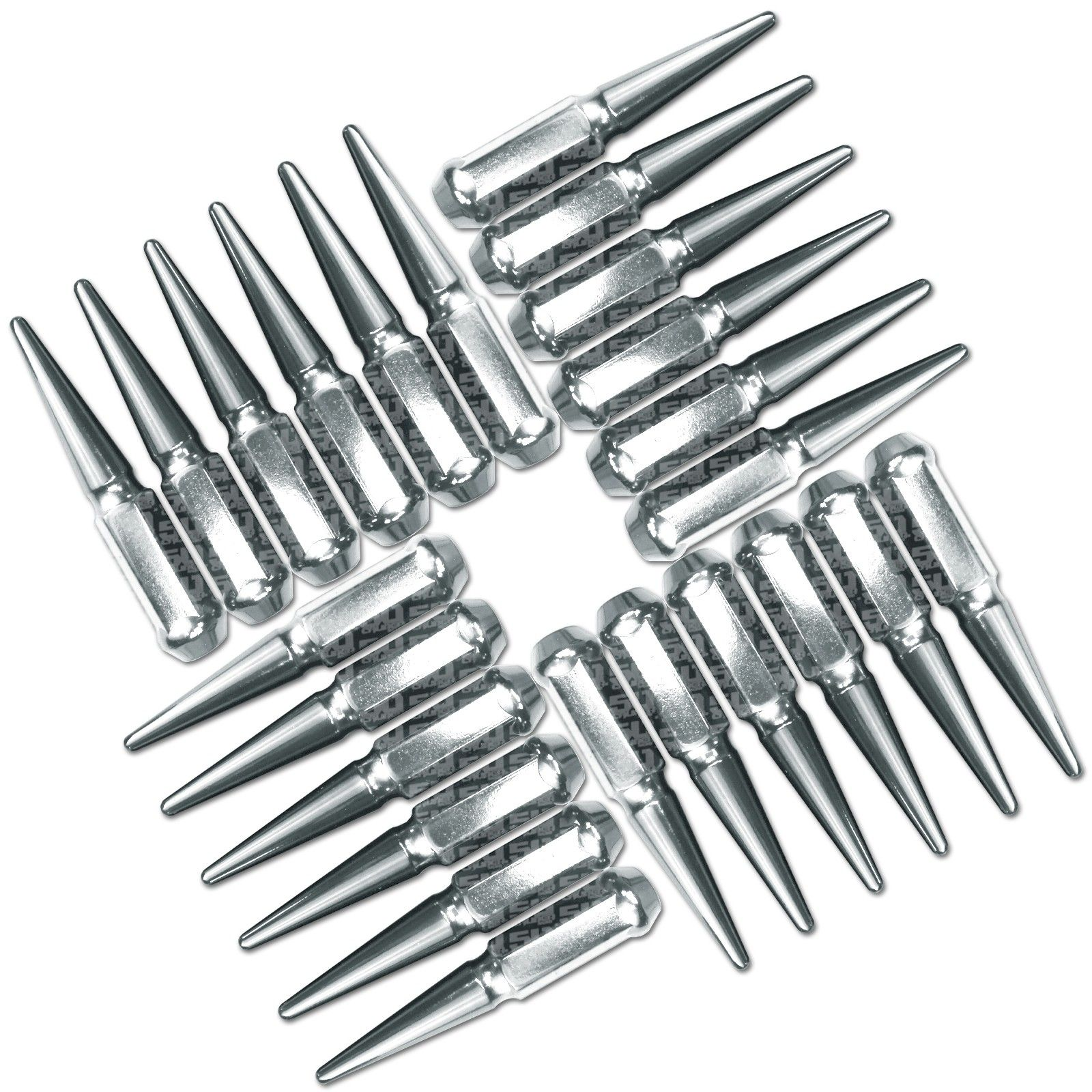 9 16 18 Extended Spike Lug Nuts Conical Acorn Taper Seat