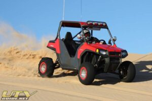 Todd frequently visits the Imperial Sand Dunes in his Polaris RZR