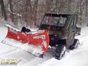 Polaris RANGER HD with Tracks and BOSS Plow