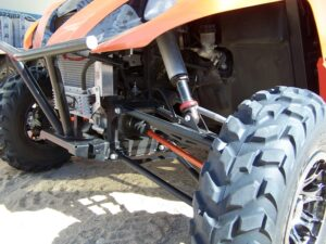 """Custom Creations +6"""" Long Travel with Sway-A-Way Shocks"""