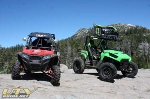 Polaris RZR XP and Kawasaki Teryx on the Rubicon