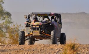 The Murray Motorsports / Del Amo / Can-Am Maverick 1000R X rs team, with brothers Derek and Jason behind the wheel, had built more than a 30-minute lead in the UTV class at one point during the race.