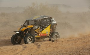 The No. 1904 Desert Toyz / Can-Am Maverick 1000R used a stock engine and suspension components during its third-place UTV Pro class podium finish at the Best In the Desert Parker 250 in Arizona.
