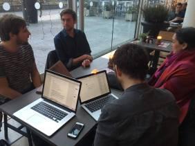 20.12.16 Meeting our interviewee Arjem de Witt