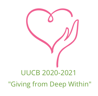 """Logo: UUCB 2020-2021 """"Giving from Deep Within"""""""