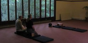 Meditating in the old Fellowship Hall