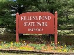 Entrance Sign to Killens Pond State Park