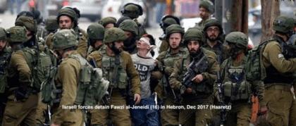 israeli-forces-detail-fawzi-al-jeneidi-in-the-west-bank-photo-by-haaretz