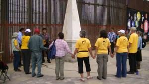 in solidarity at the border