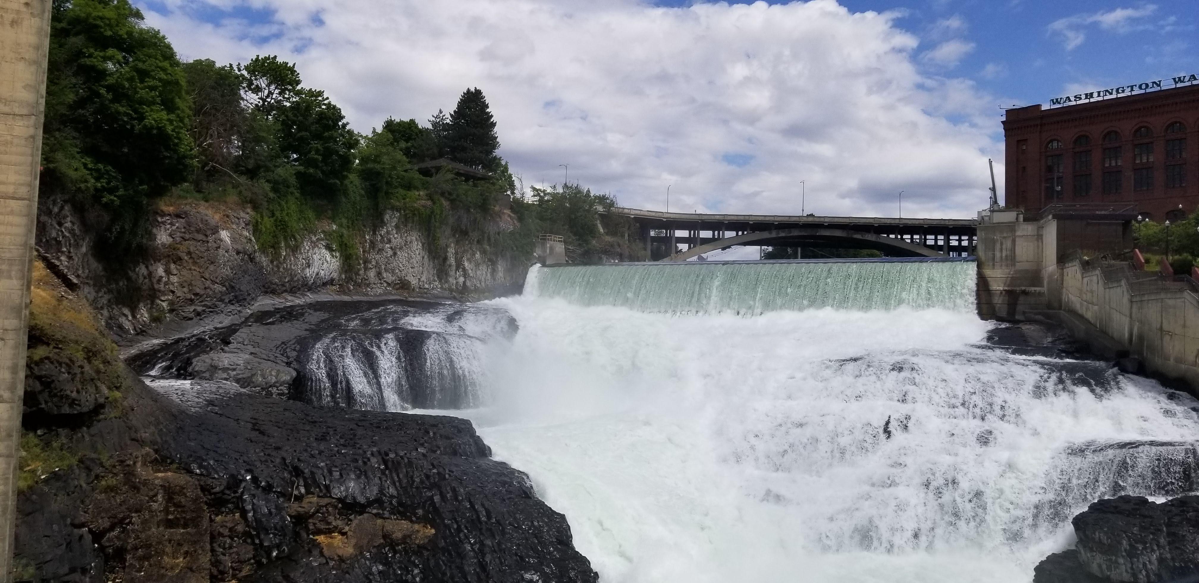 Lower Falls on the Spokane River