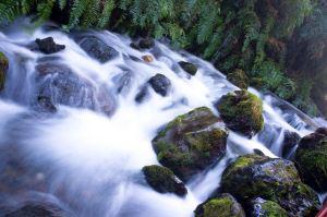 Cataract of rushing waters.