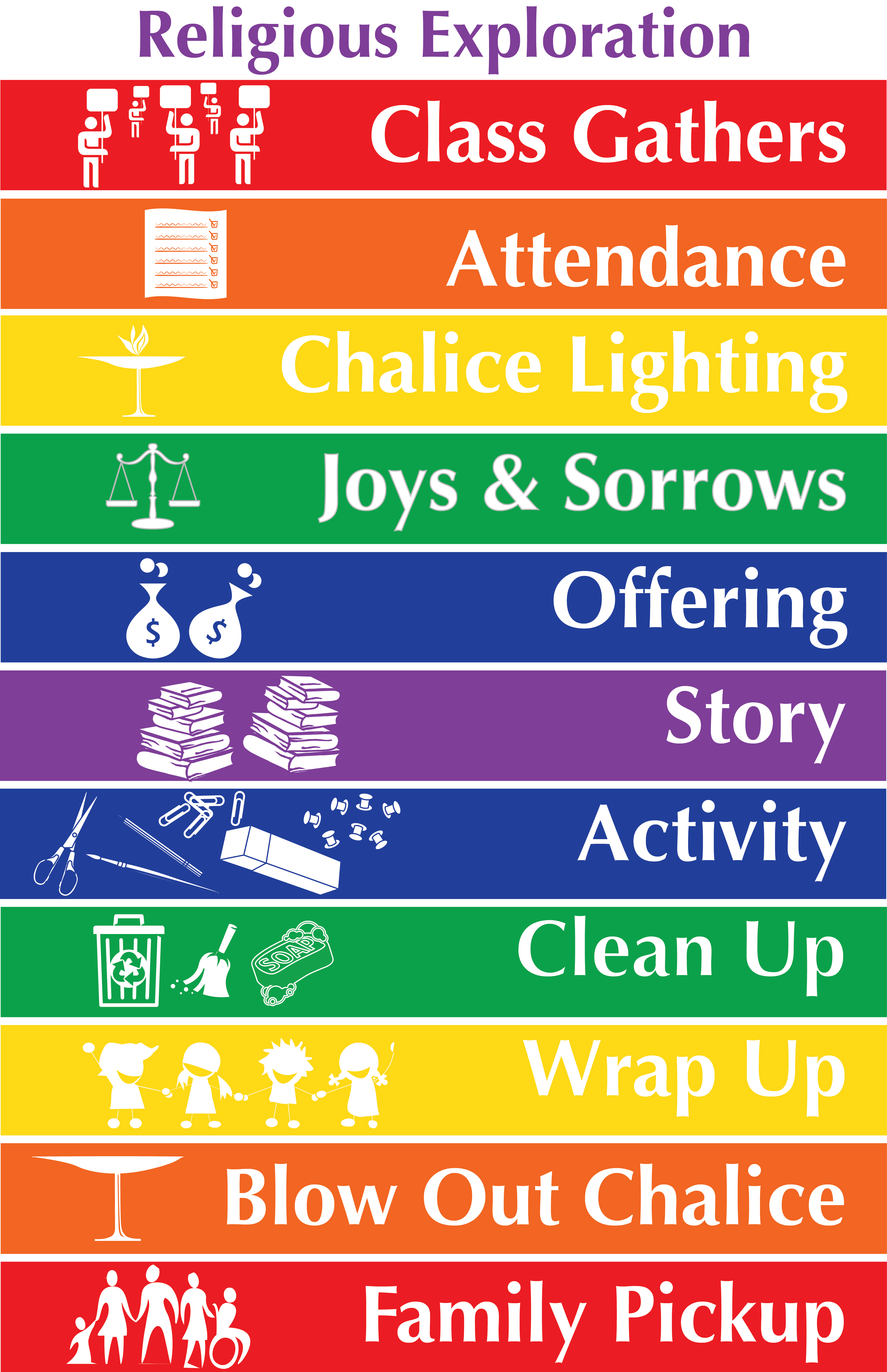 Religious Education Schedule Poster Uu Planet