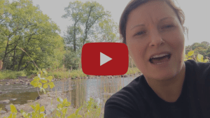 Our religious education coordinator in the great outdoors on the cover of a video