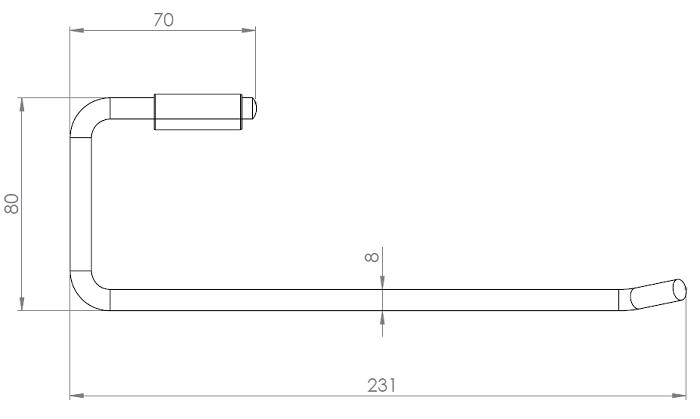 Hietakari-Sandriff Fil Lyhyt Pyyhetanko mittakuva