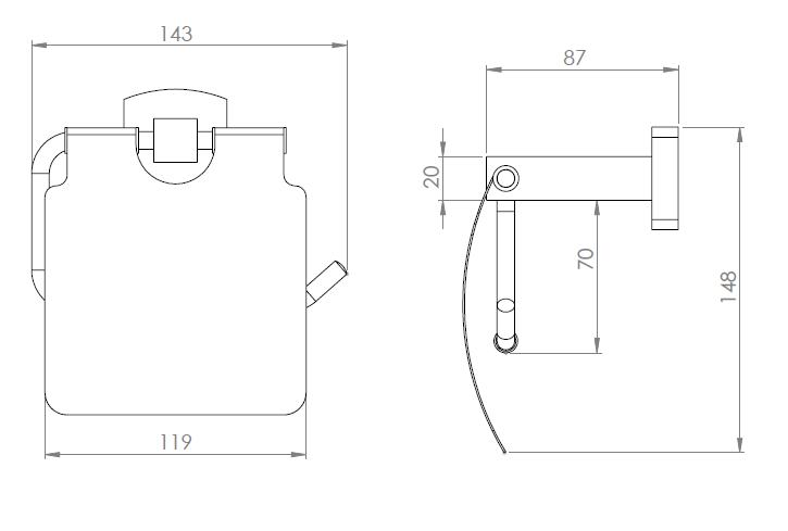 Hietakari-Sandriff Melange Wc-paperiteline mittakuva
