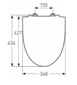 IDO Glow WC-istuinkansi Soft Close - Quick Release mittakuva