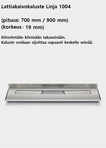Lattiakaivokaluste linja 1004 (700mm-900mm)