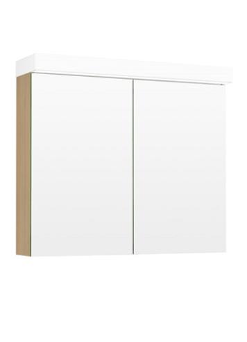 Temal Ecolight Peilikaappi kahdella ovella (vaalea tammi)