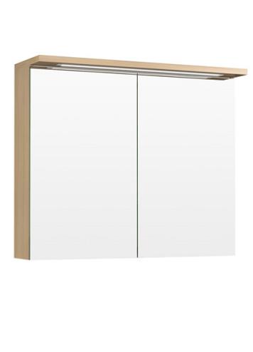 Temal Highlight peilikaappi kahdella ovella (vaalea tammi, valaistuksella)