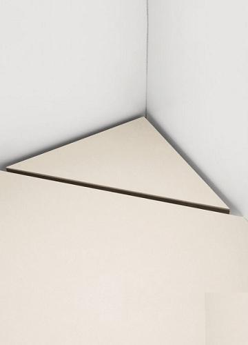 Unidrain Highline Custom Laatoitettava Kulmalattiakaivopaketti Asennettuna vaalea