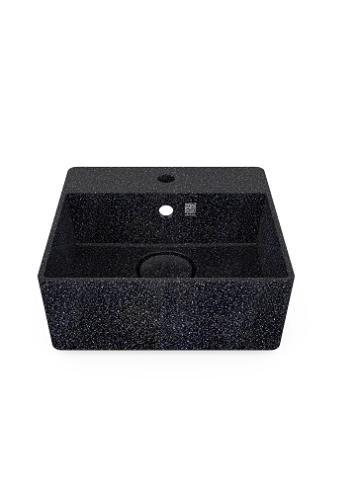 Woodio Cube40 malja-allas hanapaikalla seinäkiinnitys char