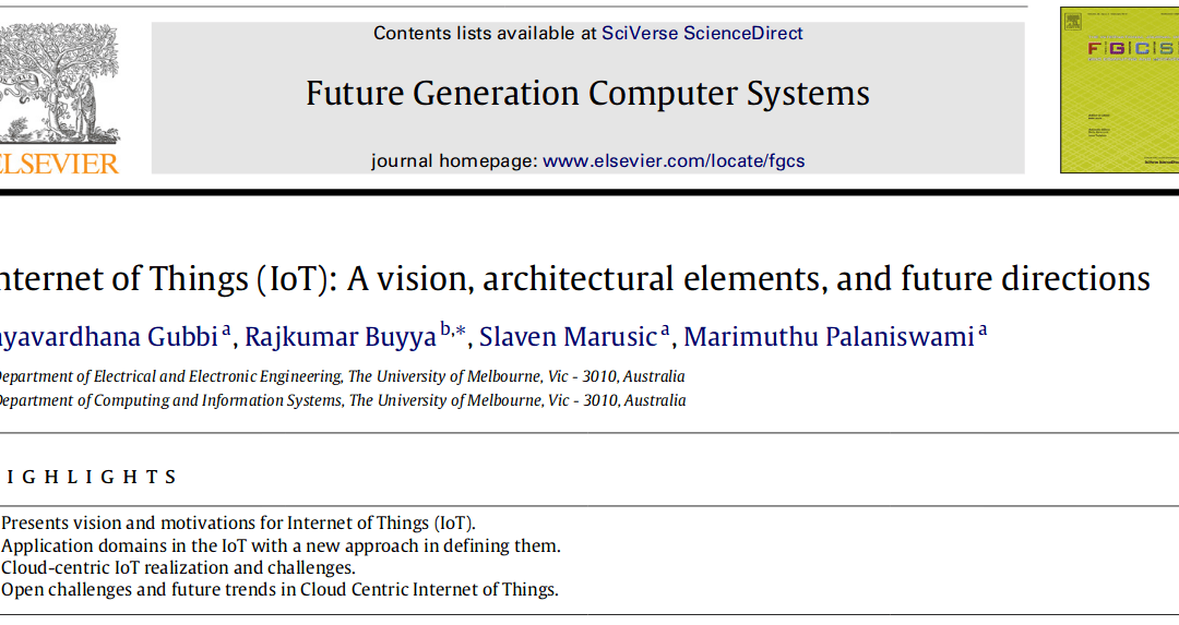 Future Generation Computing Systems ranked in the ISI top 10