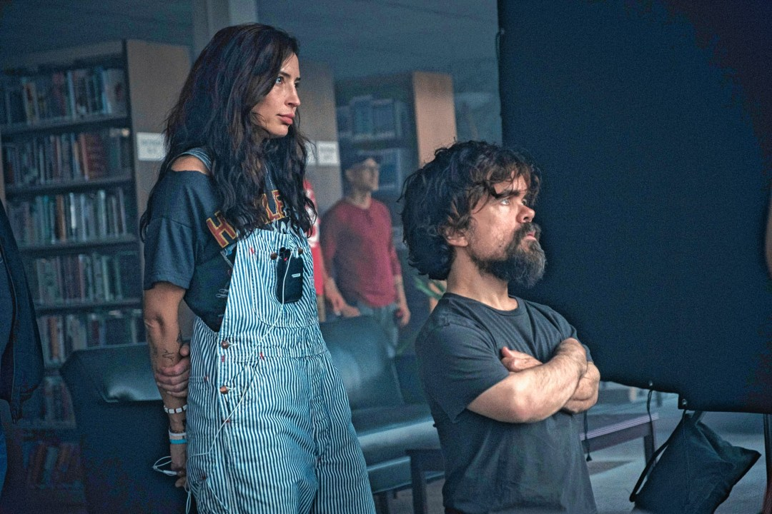 Director Reed Morano and actor Peter Dinklage on the set of