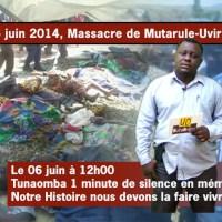 Une minute de Silence en mémoire du massacre de Mutarule