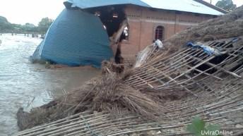 Uvira-RDC: Une vingtaine de maisons et biens de valeurs emportés par les eaux de pluies