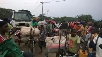 Uvira-RDC: La crue de la rivière Kavimvira sur la route national N5 en plein cité d'Uvira