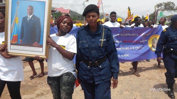Uvira-RDC: Marche de soutien à 100 % au dialogue prôné par le Chef de l'Etat, Joseph KABILA KABANGE