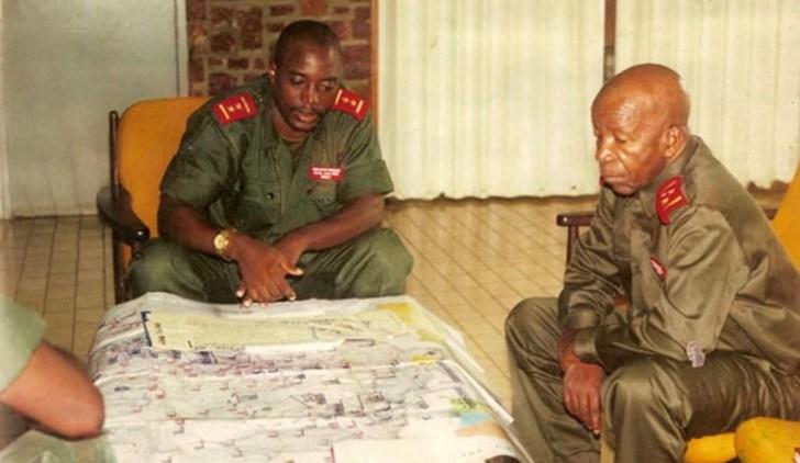 Le Général-Major Kabila en concertation avec Le Général-Major Lwecha