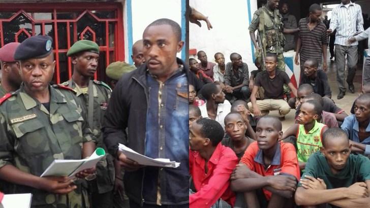 Uvira-RDC: le Général Fariala présente les infiltrés en possession des cartes d'électeur à la délégation de Kin